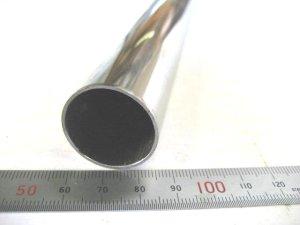 画像1: ステンレス化粧管400番研磨 外径27.2mm×肉厚1mm×長さ1m=1本入り、端材 (1)
