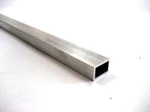画像1: アルミ平角パイプA6063 15mm×10mm×肉厚1.2mm×長さ450mm=1本入り、端材 (1)