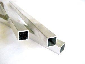 画像1: アルミ角パイプA6063 1.5mm×19mm×19mm×長さ440mm=1本入り、端材 (1)