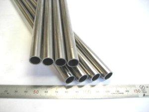 画像1: ステンレス化粧管400番研磨 外径12mm×肉厚1mm×長さ430mm=1本、端材 (1)