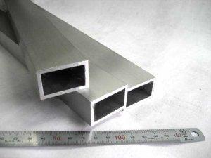 画像1: アルミ平角パイプ アルマイト 40mm×25mm×肉厚3mm×長さ450mm=1本、端材 (1)