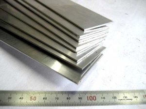 画像1: アルミ平棒 2mm×50mm×450mm=1枚、平角棒切断、端材 (1)