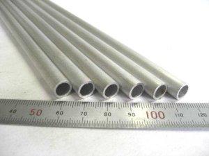 画像1: アルミ丸パイプA6063 直径9mm×肉厚1mm×長さ1m=1本、端材 (1)