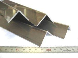 画像1: ステンレスフォーミングアングル 2mm×30mm×30mm×430mm=1本、端材 (1)