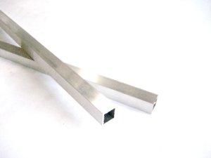画像1: アルミ角パイプA6063 15mm×15mm×肉厚1.5mm×長さ440mm=1本入り、端材 (1)