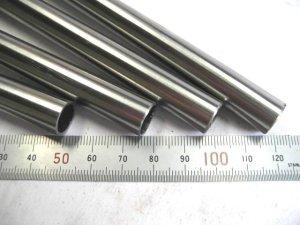 画像1: ステンレス化粧管400番研磨 外径12mm×肉厚0.8mm×長さ430mm=1本、端材 (1)