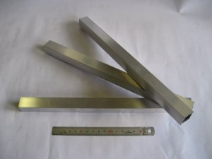 画像1: アルミ角パイプA6063 1.5mm×20mm×20mm×300mm=1本入り、端材 (1)