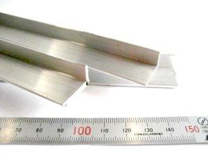 画像1: アルミアングル 1.5mm×10mm×20mm×430mm=1本入り、端材 (1)
